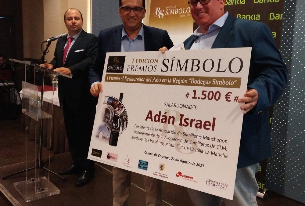 Adán Israel recibe el premio Símbolo al mejor restaurador de Castilla La Mancha